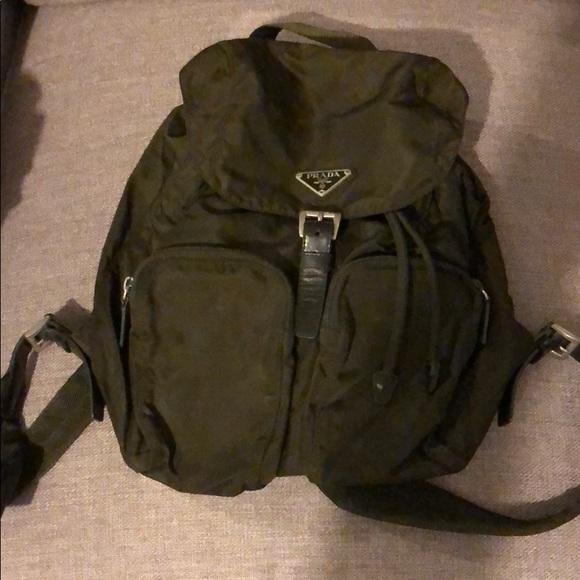 Prada Bags   Authentic Dark Green Backpack   Poshmark 12c3c9a984